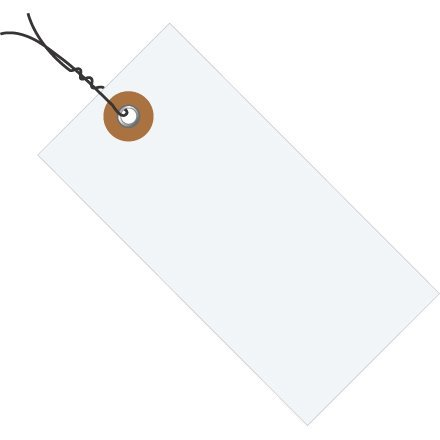 #1 Tyvek Pre Wired Tag 2 3/4'' x 1 3/8'' (G13013) Category: Shipping Tags by Box Partner by Box Partners