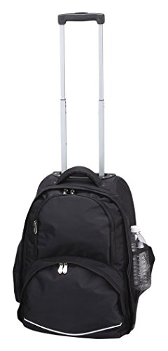 Blk Rolling Laptop Case (BELLINO P6335.BLK Rolling Computer Backpack Color: Black)
