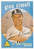 1959 Topps Regular (Baseball) Card# 418 gino cimoli of the St. Louis Cardinals Ex Condition