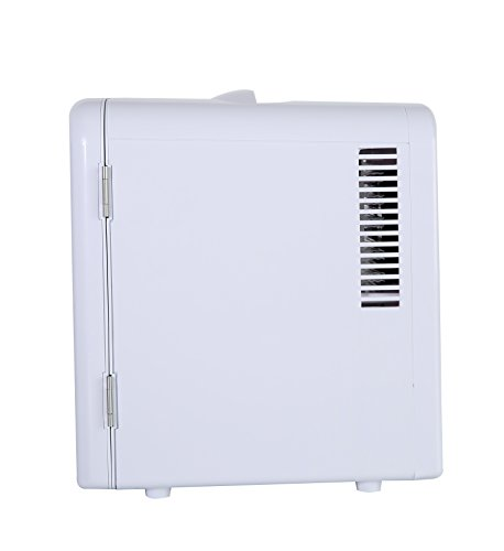 Portable 6 Can Mini Fridge Cooler - Home,Office, Car or Boat - AC & DC - White - 110/120V by Genric (Image #3)