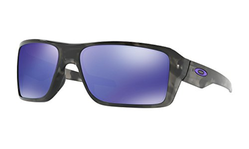 Oakley Double Edge Sunglasses Matte Black Tortoise with Violet Iridium Lens + - Black Tortoise Oakley