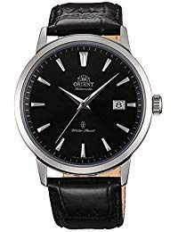 (Orient Men's Symphony Gen. II Stainless Steel Japanese-Automatic Watch with Leather Strap, Black, 22 (Model:)