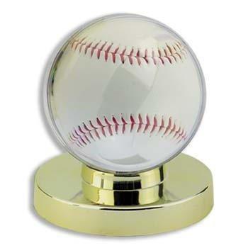 Detroit Athletic Co Gold Base Baseball Holder (Ball not Included), Metallic