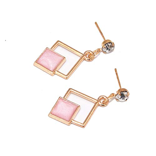 New Fashion Hollow Geometric Quadrilateral Dangling Long Statement Drop Earrings For Women Crystal Jewelry