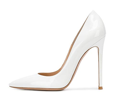 822832db66 Sammitop Women's Pointed Toe Pumps 10cm Classic Stiletto Heel Suede Shoes