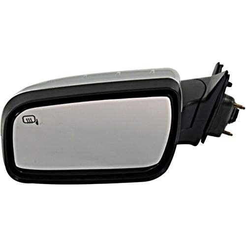 New Left Driver Side Power Door Mirror For 2008-2009 Mercury Sable, Ford Taurus Satin Chrome With Heated Glass With Puddle Light Without Memory FO1320335
