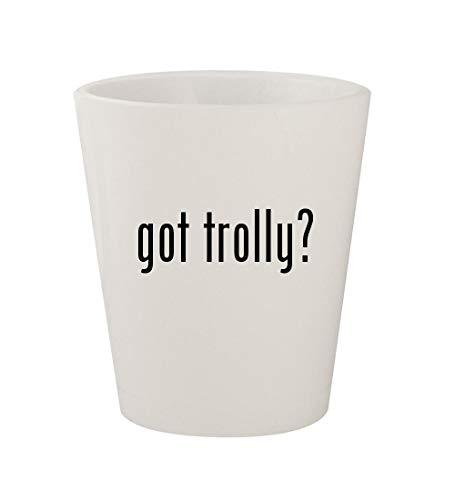 got trolly? - Ceramic White 1.5oz Shot Glass ()