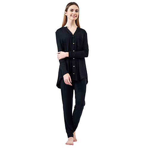 JuneBloom Women Pajamas Long Sleeve Model Pajamas Sets 2 Piece Lounge Wear
