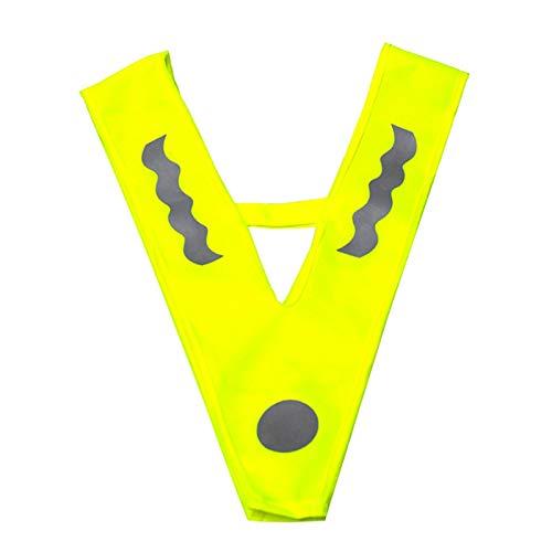adgbd Reflecterend vest voor kinderen, reflectoren, vest, kinderveiligheidsvest, V-vorm, signaalkraag…