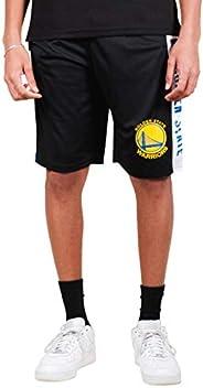 Ultra Game Men's NBA Mesh Basketball Shorts, Golden State Warriors, Black, S