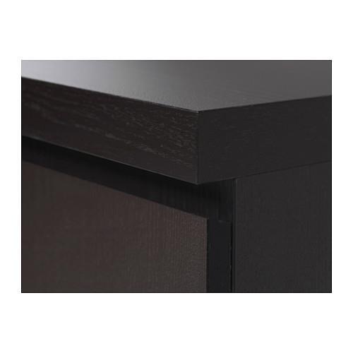 Ikea Malm Home Office Desk, Black Brown With Floor Protectors (Black Brown)  (86ff6219cd79862165952c8b544deb84)   PCPartPicker