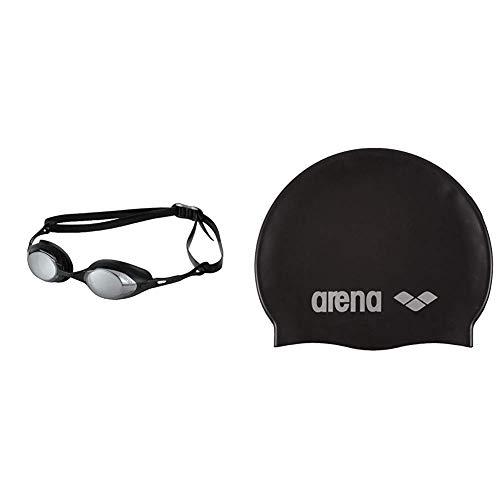 arena Unisex Wettkampf Profi Schwimmbrille Cobra Mirror Verspiegelt (UV-Schutz, Anti-Fog Beschichtung)