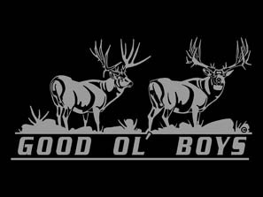 Amazoncom Good Ol Boys Mule Deer Hunting Automotive Window - Rear window hunting decals for trucksamazoncom truck suv whitetail deer hunting rear window graphic