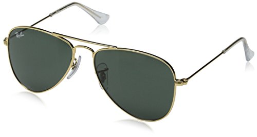 Ray Ban Jr. Boys Ray-ban Kids Aviator Junior, Gold, 50 mm