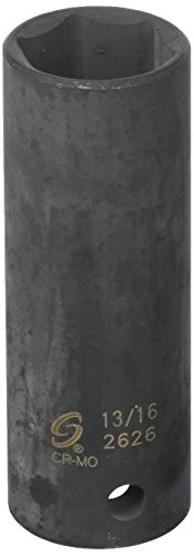 Sunex 2626 1/2-Inch Drive 13/16-Inch Extra Thin Wall Deep Impact - Thin Wall Socket Deep