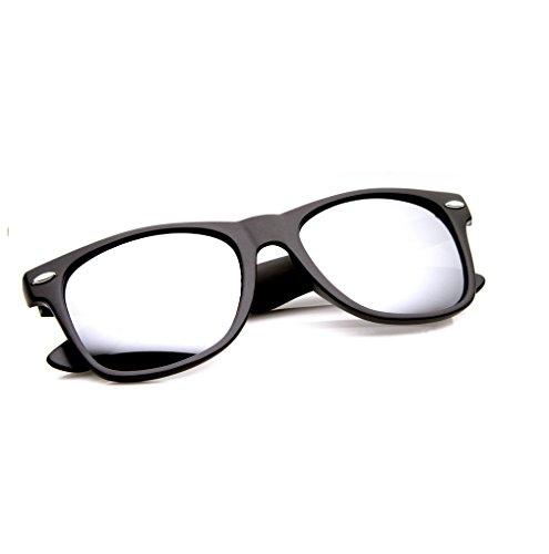Miroir ou New nbsp;Marque Objectif mirror black Soleil de Unisexe Lunettes Soleil Lunettes de UV400 4sold xYpXawTqq