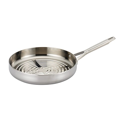 (Anolon Tri-Ply Clad Stainless Steel 12-Inch Deep Round Grill Pan)