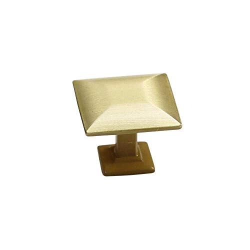 owes Satin Brass Cabinet Hardware Square 1.16