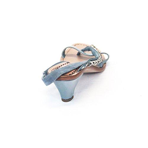 Y pedrería para mujer con un Juicy Couture en el talón de gatito, estándar del Reino Unido 3, 5 de £135 azul - coral