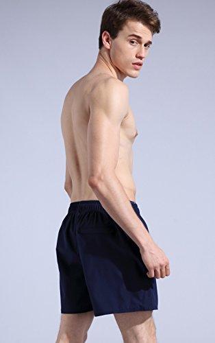 ORANSSI Men's Quick Dry Swim Trunks Bathing Suit Beach Shorts, Navy, Medium, 34-36 Waist by ORANSSI (Image #4)