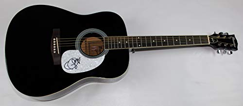 Taylor Swift 1989 Beautiful Signed Autographed Black Full Size Acoustic Guitar Loa