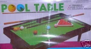 One Complete Mini Tabletop Pool Table Set by Rhode Island Novelty