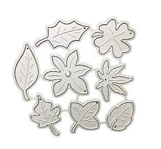 Fligatto - Molde para troquelar, diseño de campana de Navidad, varios estilos Leaves