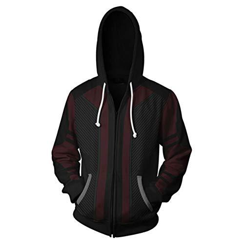 (HIMIC E77C Super Hero Fashion Cosplay Hoodie Jacket (Medium, Hawkeye))