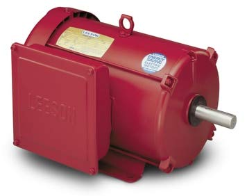 Single Electric Wide (10hp 1740RPM 215T Frame 230volts (Farm Duty) Extra High Torque Leeson Electric Motor # 140414)