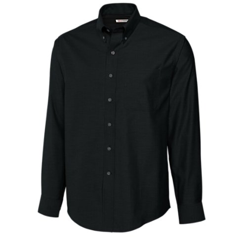 Cutter & Buck Men's Big-Tall Epic Easy Care Royal Oxford Shirt, Black, 4X-Large/Tall by Cutter & Buck (Image #1)