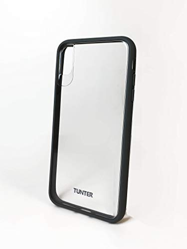 Tunter Cell Phone Case for TPE, PC iPhone Xs Max - Crystal Clear with Cool Grey Pattern