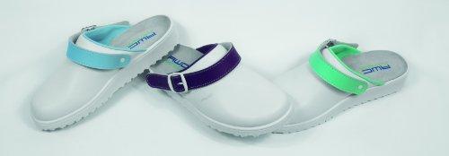 Damen Sandale mit Ristpolster - weiß/hellblau - Größe: 36