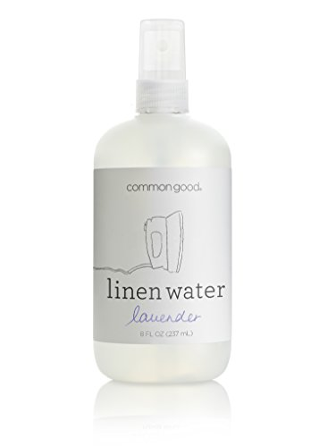 Common Good - Linen Water, Reduces Wrinkles and Refreshes Clothes and Furniture, Biodegradable Formula, No Parabens or Sulfates, Leaping Bunny Certified (Lavender Scent, 8 ounces)