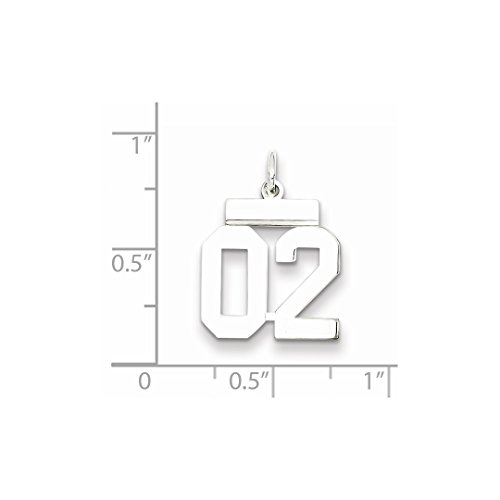 925 Number 02 Pendant Sport Jewelry For Set