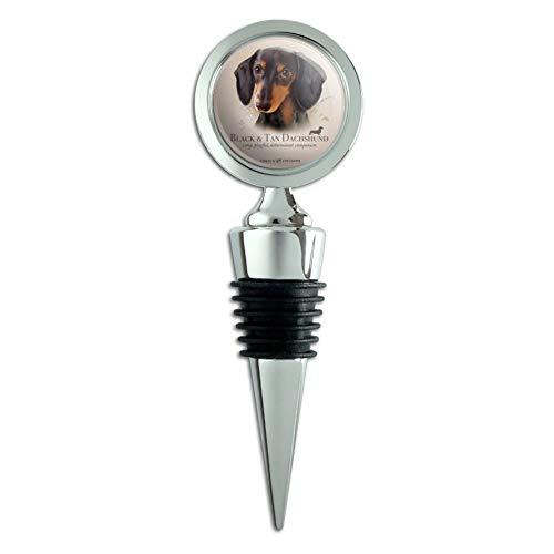 - Black and Tan Dachshund Wiener Dog Breed Wine Bottle Stopper