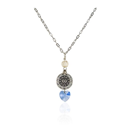 [New Design Swarovski Elements Crystal Heart Pendant With White Stone, 16 Inches Nickel Free Jewelry] (The Real Batman Costume For Sale)