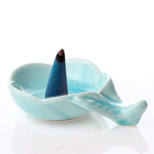 (xiaokkiss Ceramic Dish Ceramic Plum Leaf Shape Sauce Dish Chopstick Rack Mini Plate Sushi Dipping Bowls Appetizer Plates Saucer for Vinegar Salad Soy Sauce Wasabi Chili Oil)