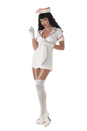 NEW Sexy Adult Betty Bettie Page Nurse Outfit Costume M Womens U.S. Medium (8-10)