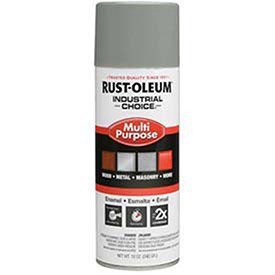Rust-Oleum Industrial 1600 System General Purpose Enamel Aerosol, Dove Gray 16 Oz. Can - Lot of 6