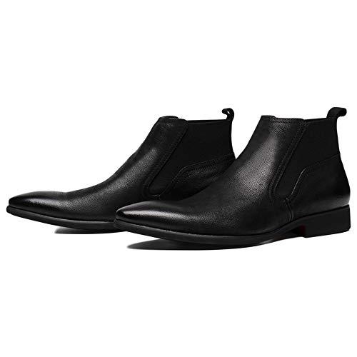 Scarpe Inverno Tempo E Pelle Autunno Libero Boots Punta Classic per Il Oxblood Brogue in Black High Pelle Chelsea A Top Safety Uomo 76wxqxzp