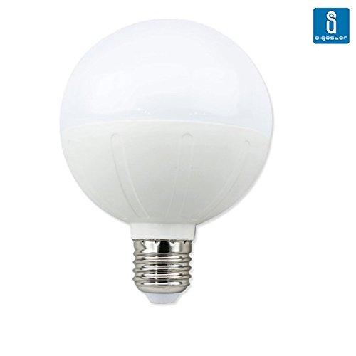 Bombilla LED E27 de 18w Aigostar tipo globo, luz cálida