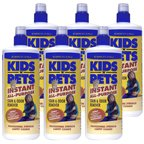 KIDS 'N' PETS Brand – Stain and Odor Remover, 6 pack, 32 fluid ounce bottles (192 fluid ounces total), My Pet Supplies