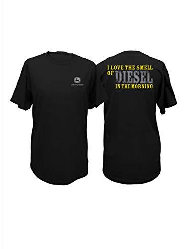John Deere Love The Smell of Diesel in The Morning T-Shirt (XX-Large) Black (John Deere 404 Diesel Engine For Sale)