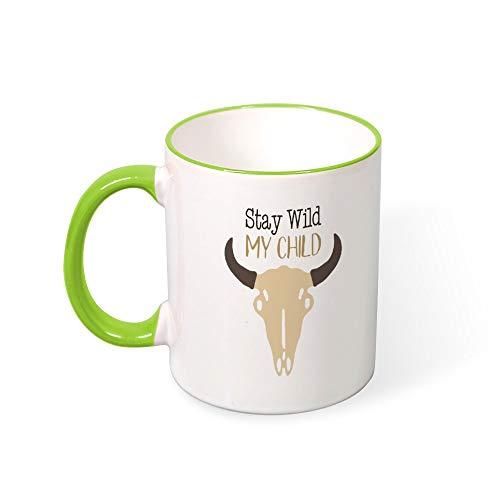 DKISEE Stay Wild My Child Color Coffee Mug Novelty 11oz Ceramic Mug Cup Birthday Christmas Anniversary Gag Gifts Idea