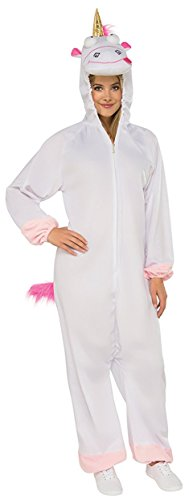 Rubie's Costume Co. Women's Despicable Me 3 Fluffy Onesie Costume with Hood, As/Shown, (Despicable Me Onesie)