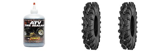 (Set of 2 QUADBOSS QBT673 Front/Rear Tires 32x10R-14 6-ply with Sealant)