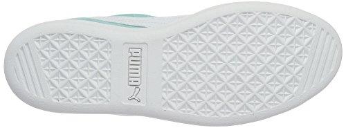 Puma Vikky Leather Suede Sneaker Mujer Niños Zapatillas Deportivas 362624 14 Azul Turquesa Blanco