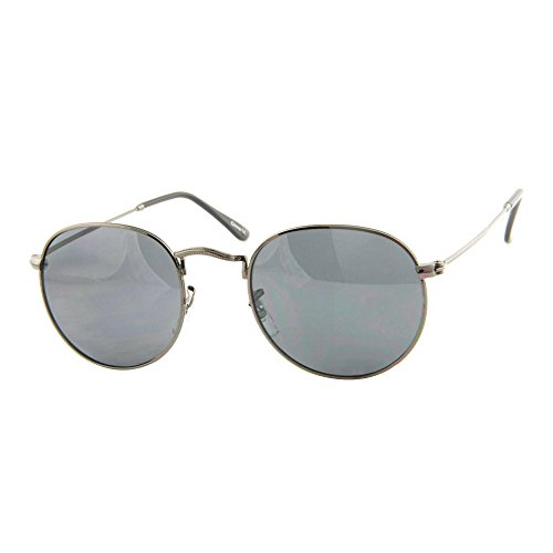 Roxx- Retro Round Smoke Black Light Weight Wire Rimmed - Rimmed Cheap Thick Glasses