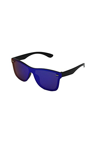 In unique Mirrored Homme Black taille Finecy frame Lunettes with de Lens Blue soleil ZdnAYw