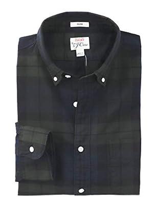 J.Crew Men's Slim Fit Tartan Plaid Pima Oxford Shirt
